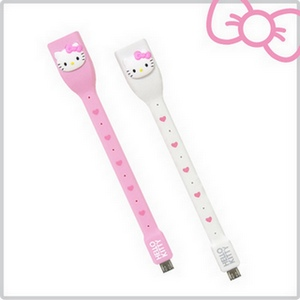 【限時下殺】Hello Kitty 行動OTG USB 傳輸線KT-OTG01(紅心粉)