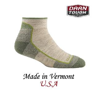 【美國DARN TOUGH】Soild 1/4 Sock Cushion1/4襪綠茶色-2入(S)