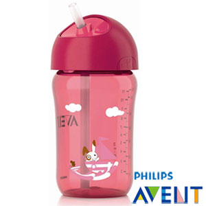 【PHILIPS AVENT】QQ兔吸管水杯(340ml紅色)(-)