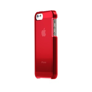 TUNEWEAR TUNESHELL RUBBER FRAME iPhone SE/5s 膠框透明殼(紅色)