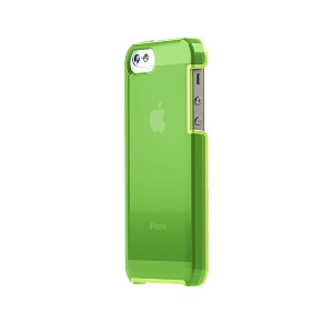 TUNEWEAR TUNESHELL RUBBER FRAME iPhone SE/5s 膠框透明殼(綠色)