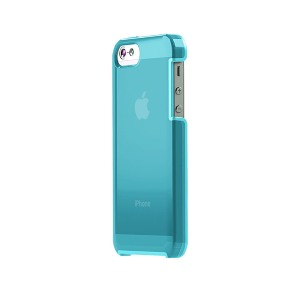 TUNEWEAR TUNESHELL RUBBER FRAME iPhone SE/5s 膠框透明殼(藍色)