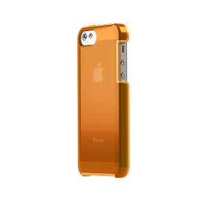 TUNEWEAR TUNESHELL RUBBER FRAME iPhone SE/5s 膠框透明殼(橘色)