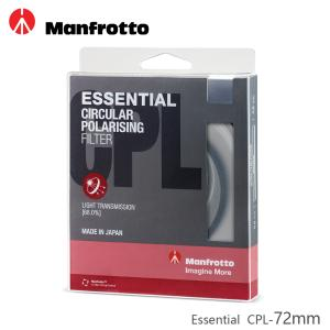 Manfrotto 72mm CPL鏡 Essential濾鏡系列
