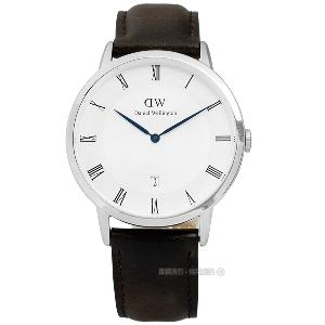 DW Daniel Wellington/DW00100090/Dapper真皮手錶 深褐 38mm