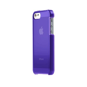 TUNEWEAR TUNESHELL RUBBER FRAME iPhone SE/5s 膠框透明殼(紫色)