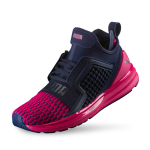PUMA - IGNITE Limitless Colorblock Wn's 女性 慢跑運動鞋_深藍桃紅(UK5)