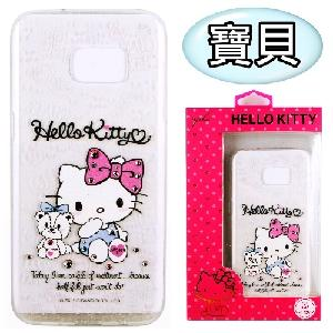 【Hello Kitty】Samsung Galaxy S7 edge 彩鑽透明保護軟套(寶貝)