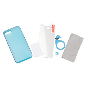 TUNEWEAR SOFTSHELL iPhone SE/5s TPU保護殼(藍色)-商品縮圖4