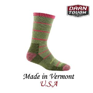 【美國DARN TOUGH】Summit Stripe Sock Cushion 等長襪 柳綠色(M)