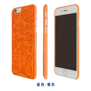 Ozaki O!coat 0.3+Travel Versatile for iPhone6s/6(紐約 (橘色))