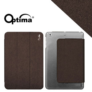 Optima iPad mini Retina New Stylish 丹寧紋保護套(咖)
