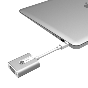 ADAM M1 Mini DisplayPort 轉 VGA 轉接器