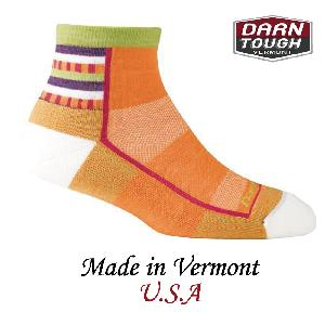 【美國DARN TOUGH】1/4 Sock Light Custion跑步系列柑橘色-2入(S)