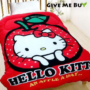 Give Me Buy★HELLO KITTY暖柔刷毛毯被-150X195cm(天天吃蘋果)