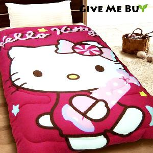 Give Me Buy★HELLO KITTY暖柔刷毛毯被-150X195cm(SWEETY)