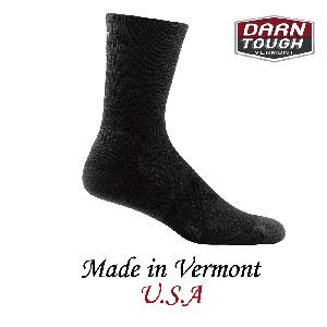 【美國DARN TOUGH】Coolmax 1/4 Sock Ultra-Light 黑色-2入(L)