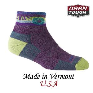【美國DARN TOUGH】Daphne 1/4 Sock Cushion 1/4襪紫藤色-2入(M)