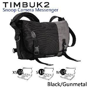 【美國Timbuk2 】Snoop相機郵差包 ( Black/Gunmetal-XS)