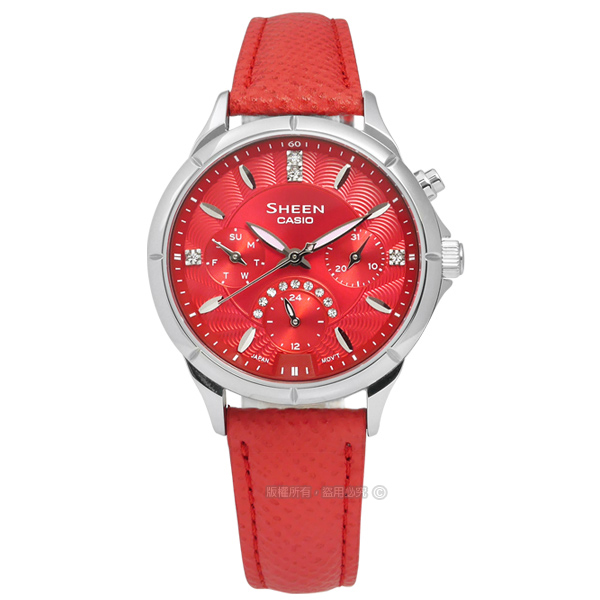SHEEN CASIO/SHE-3047L-4A/�d��ڬI�ج��@�_�����T���u�ֵÿ� ��x�Ȯ�34mm-�ӫ~²����1