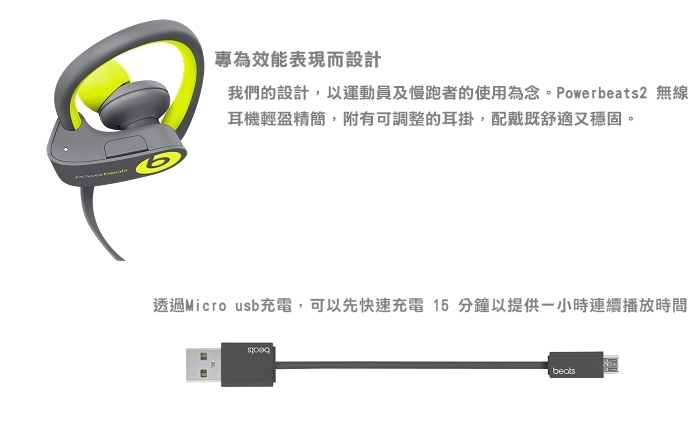 Beats Powerbeats2 無線入耳式耳機Active Collection(紅)-商品簡介圖2