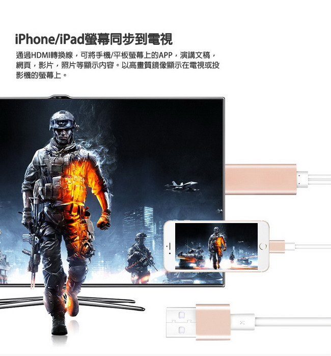 HM02�i���W�M��iPhone/iPad HDMI�v����T�ഫ�u(���b��)-�ӫ~²����1