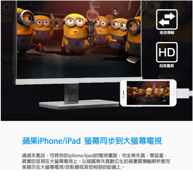 HM02�i���W�M��iPhone/iPad HDMI�v����T�ഫ�u(���b��)-�ӫ~²����5