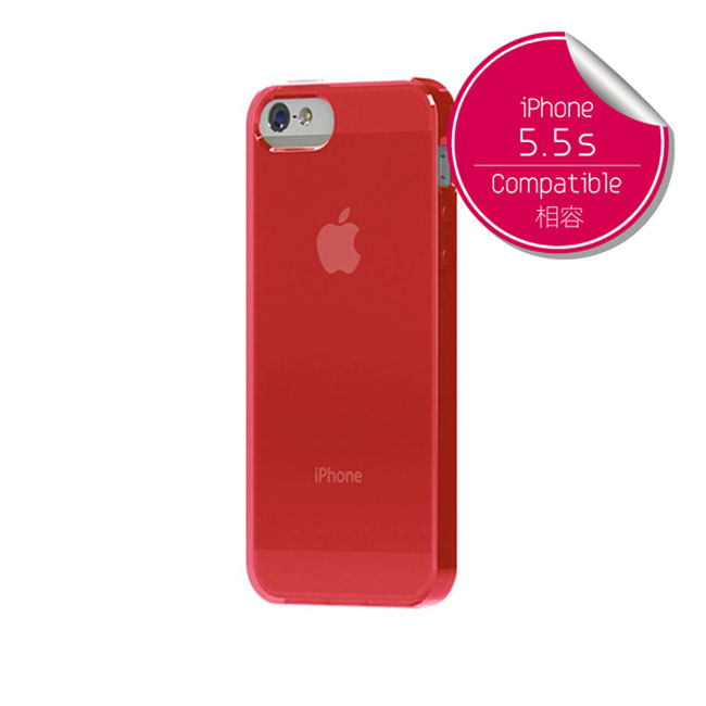 TUNEWEAR SOFTSHELL iPhone SE/5s TPU保護殼(桃粉)-商品簡介圖1