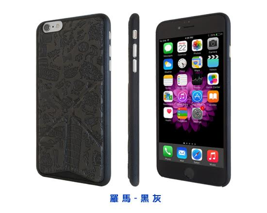 Ozaki O!coat 0.3+Travel Versatile for iPhone6s/6(羅馬(黑灰))-商品簡介圖6