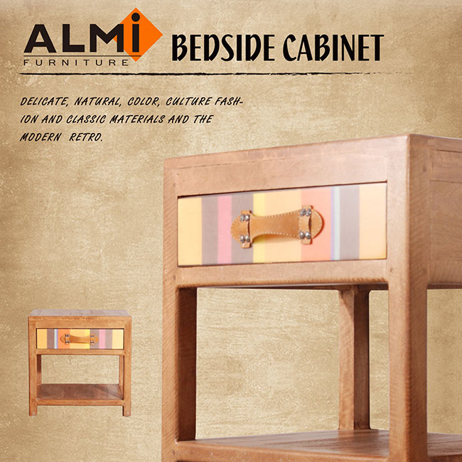 【ALMI】DOCKER BAYADERE-BEDSIDE 1 DRAWER 床頭櫃-商品簡介圖1