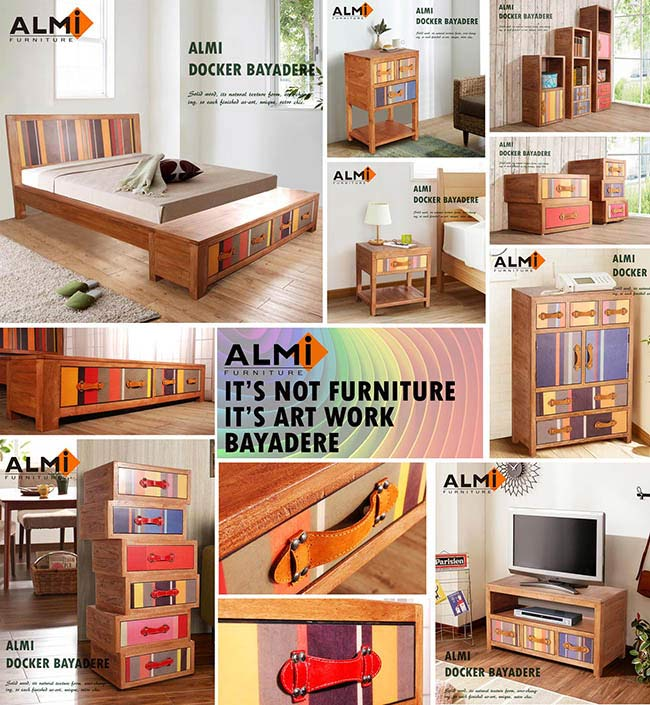 【ALMI】DOCKER BAYADERE-BEDSIDE 1 DRAWER 床頭櫃-商品簡介圖10