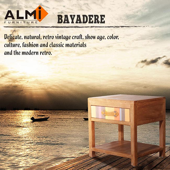 【ALMI】DOCKER BAYADERE-BEDSIDE 1 DRAWER 床頭櫃-商品簡介圖8