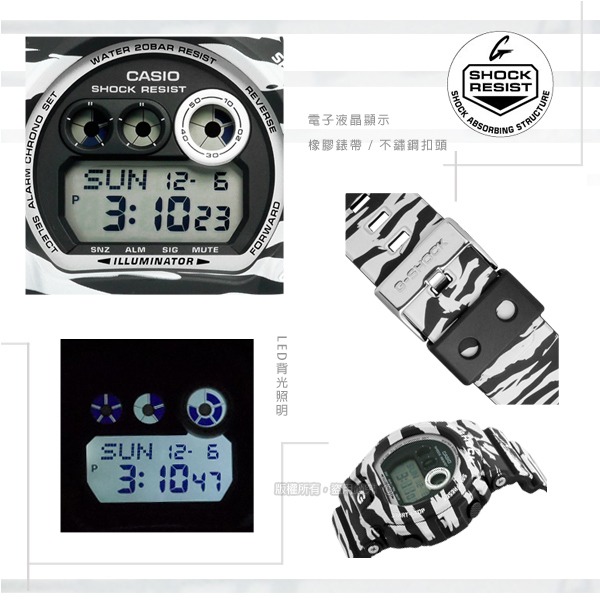 G-SHOCK CASIO/GD-X6900BW-1�d�����ⴳ�����q�l�󽦵ÿ� �¥զ� 50mm-�ӫ~²����2