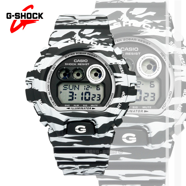 G-SHOCK CASIO/GD-X6900BW-1�d�����ⴳ�����q�l�󽦵ÿ� �¥զ� 50mm-�ӫ~²����3