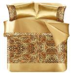 BELLE VIE 奢華豹紋 純棉緞面單人床包被套組