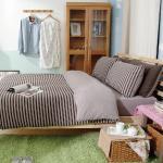 Royal Liaterie【品味空間-可可棕】100%純棉針織 單人 四件式床包被套組