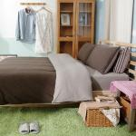 Royal Liaterie【品味空間-深灰】100%純棉針織 單人 四件式床包被套組