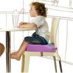 DF 童趣館 - 寶寶可拆式高密度餐椅增高墊/海棉墊-共3色(紅面)