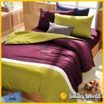 Smiley World《晚安密語》貼布繡四件式雙人床包被套組(SNOOZE)