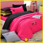 Smiley World《晚安密語》貼布繡四件式雙人床包被套組(wink)