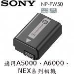 SONY NP-FW50 原廠電池 (A5000、A6000、NEX系列適用)(平輸無吊卡包裝)