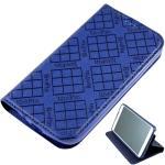 KooPin HTC One (M8) 隱磁系列 超薄可立式側掀皮套(伯爵藍)