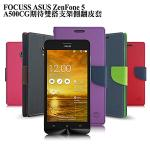 台灣製造FOCUSS ASUS ZenFone 5 A500CG期待雙搭支架側翻皮套(桃藍)