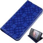 KooPin HTC ONE (M7) 801E 隱磁系列 超薄可立式側掀皮套(伯爵藍)