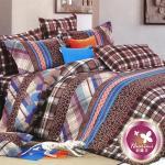 【羽織美】魅力之約 精梳棉加大四件式被套床包組