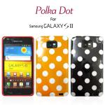 SAMSUNG S2 I9100 Polka Dot 紐約波點手機套(黑色)