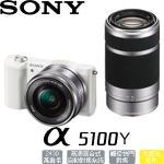 64G電組★SONY A5100 ILCE-5100Y 數位微單相機 雙鏡組(公司貨)(白)