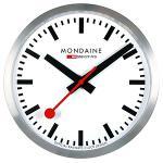 MONDAINE 瑞士國鐵經典掛鐘-銀/25cm