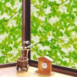 原售2990元【日本MEIWA】抗UV節能靜電窗貼★綠葉盈窗 (92x500公分)