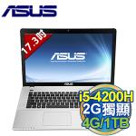 �iASUS�jX750JN 17.3�T i5-4200H ��� 2G�W�� ���q